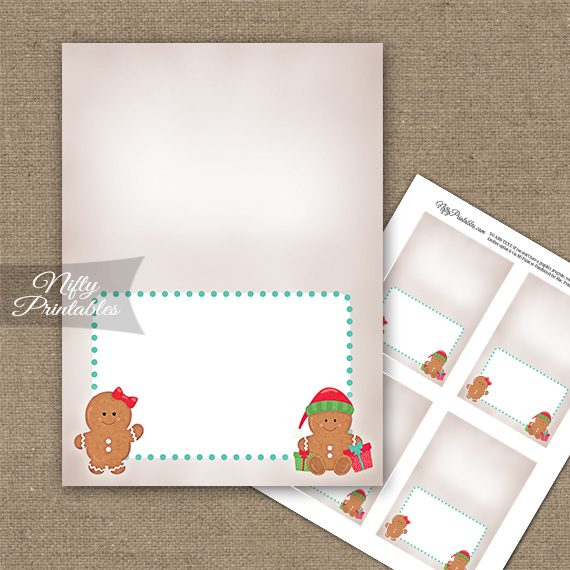 Gingerbread Holidays Folded Tent Place Cards