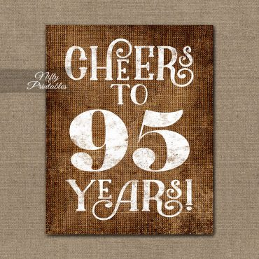 95th Birthday Party Invitations Decorations
