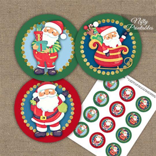 Santa Claus Trio Cupcake Toppers