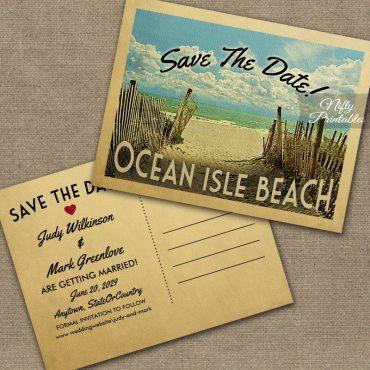 Ocean Isle Beach Save The Date PRINTED