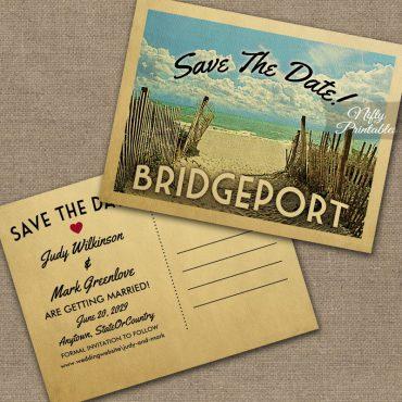 Bridgeport Connecticut Save The Date Beach PRINTED