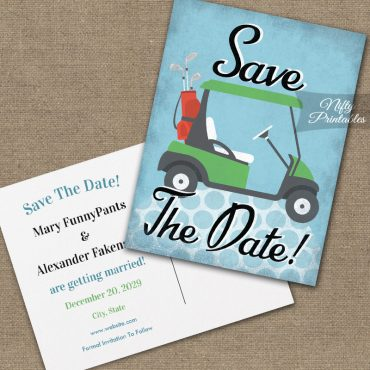 Golf Save The Date PRINTED