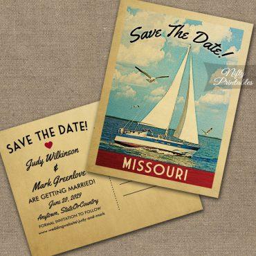Missouri Save The Date Sailboat Nautical PRINTED