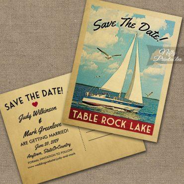 Table Rock Lake Missouri Save The Date Sailboat Nautical PRINTED