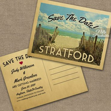 Stratford Connecticut Save The Date Beach PRINTED
