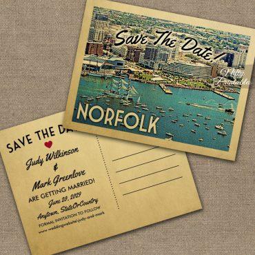 Norfolk Virginia Save The Date PRINTED