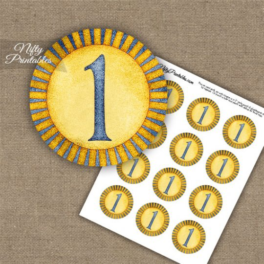 1st Birthday Anniversary Cupcake Toppers - Sunshine Illustrated