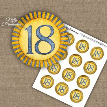 18th Birthday Anniversary Cupcake Toppers - Sunshine Illustrated