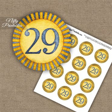 29th Birthday Anniversary Cupcake Toppers - Sunshine Illustrated
