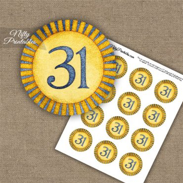 31st Birthday Anniversary Cupcake Toppers - Sunshine Illustrated