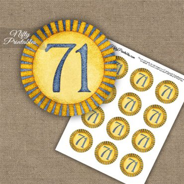 71st Birthday Cupcake Toppers - Sunshine Illustrated