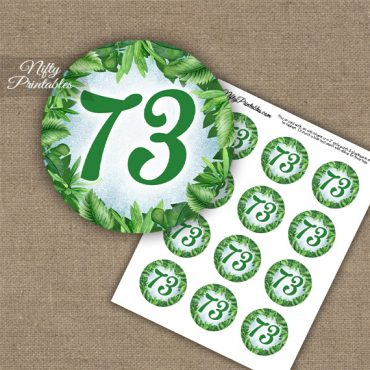 73rd Birthday Cupcake Toppers - Greenery