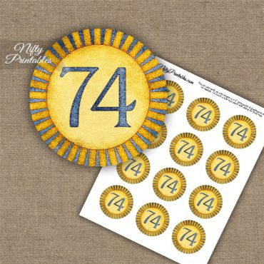 74th Birthday Cupcake Toppers - Sunshine Illustrated