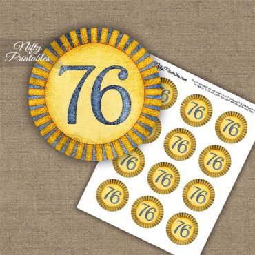 76th Birthday Cupcake Toppers - Sunshine Illustrated