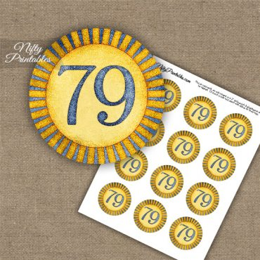 79th Birthday Cupcake Toppers - Sunshine Illustrated