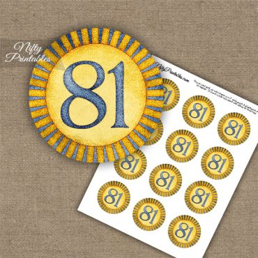 81st Birthday Cupcake Toppers - Sunshine Illustrated