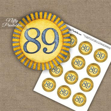 89th Birthday Cupcake Toppers - Sunshine Illustrated