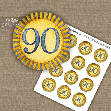 90th Birthday Cupcake Toppers - Sunshine Illustrated