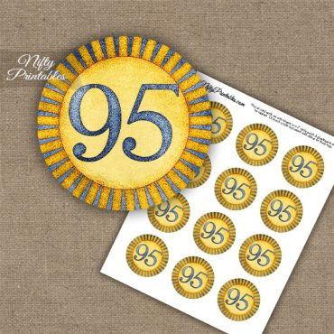 95th Birthday Cupcake Toppers - Sunshine Illustrated