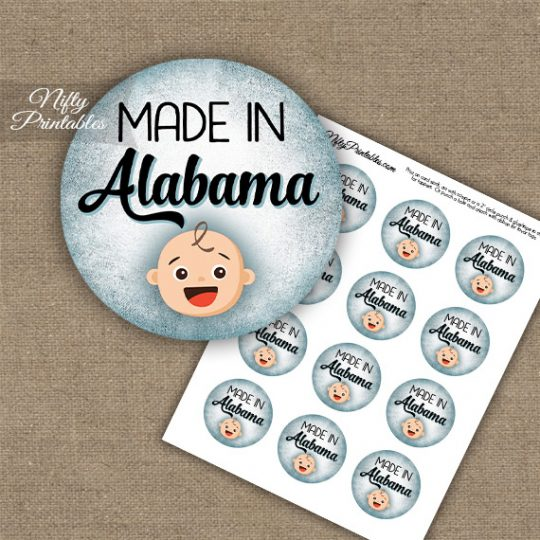 Alabama White Baby - Blue Cupcake Toppers