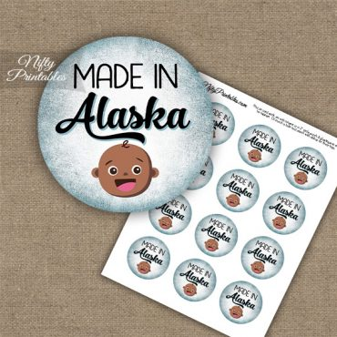 Alaska Black Baby - Blue Cupcake Toppers