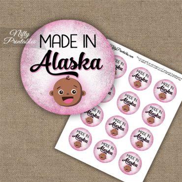 Alaska Black Baby - Pink Cupcake Toppers