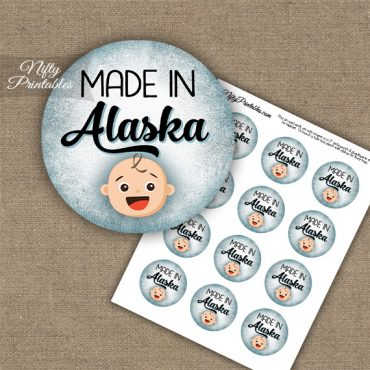 Alaska White Baby - Blue Cupcake Toppers