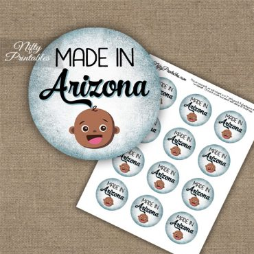 Arizona Black Baby - Blue Cupcake Toppers