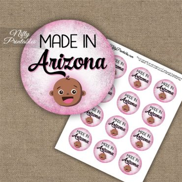 Arizona Black Baby - Pink Cupcake Toppers