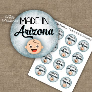 Arizona White Baby - Blue Cupcake Toppers