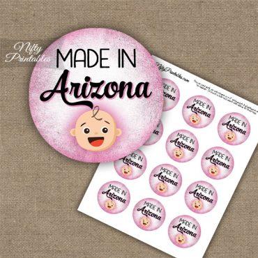 Arizona White Baby - Pink Cupcake Toppers