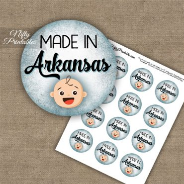 Arkansas White Baby - Blue Cupcake Toppers
