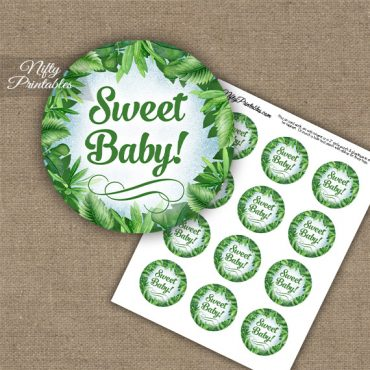 Baby Shower Cupcake Toppers - Greenery