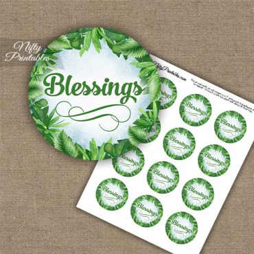 Blessings Cupcake Toppers - Greenery