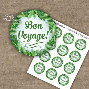 Bon Voyage Cupcake Toppers - Greenery