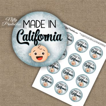California White Baby - Blue Cupcake Toppers