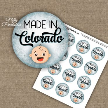 Colorado White Baby - Blue Cupcake Toppers