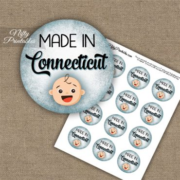 Connecticut White Baby - Blue Cupcake Toppers