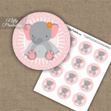 Cute Elephant Sprinkles Cupcake Toppers