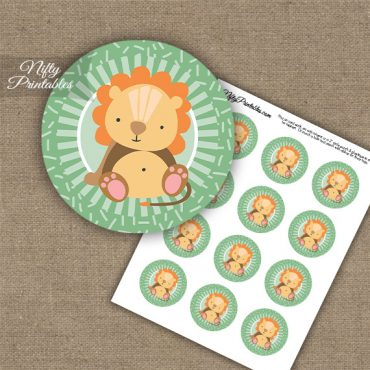 Cute Lion Sprinkles Cupcake Toppers