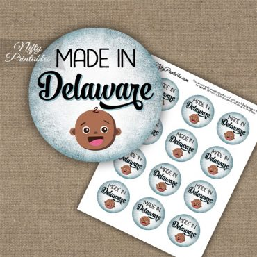 Delaware Black Baby - Blue Cupcake Toppers