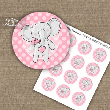 Elephant Pink Cupcake Toppers