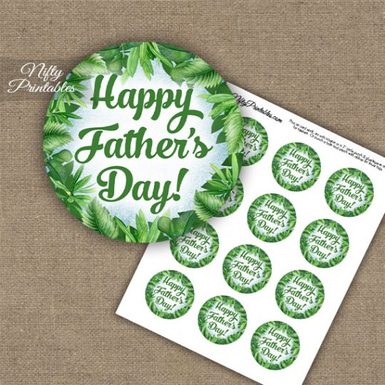 Father's Day Cupcake Toppers - Greenery
