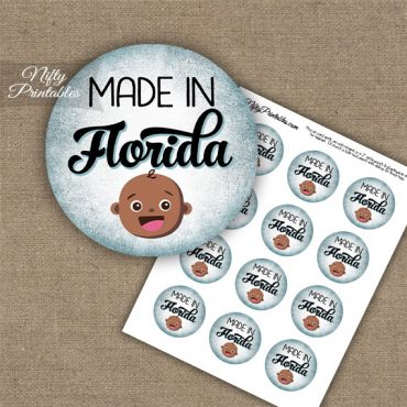 Florida Black Baby - Blue Cupcake Toppers