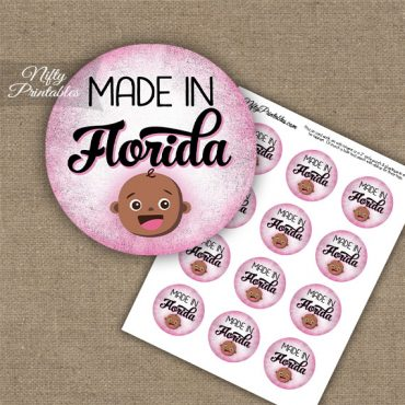 Florida Black Baby - Pink Cupcake Toppers