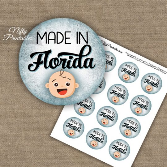 Florida White Baby - Blue Cupcake Toppers