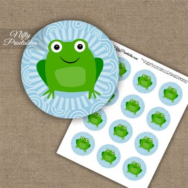 Funny Frog Cupcake Toppers