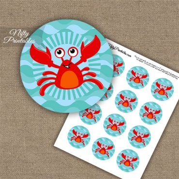 Funny Crab Cupcake Toppers