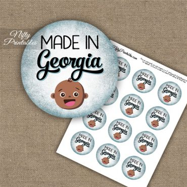 Georgia Black Baby - Blue Cupcake Toppers