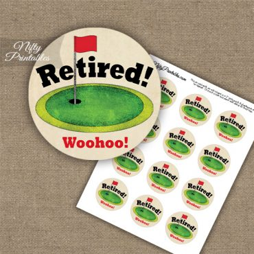 Golf Retirement Cupcake Toppers